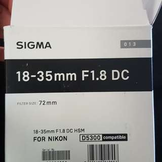Sigma Art 18-35mm F1.8 for Canon