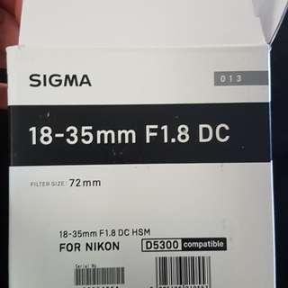 Sigma Art 18-35mm F1.8 for Canon