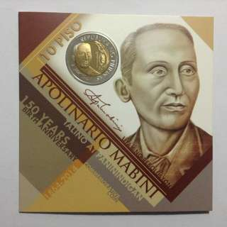 Apolinario Mabini 150th Birth Anniversary 10 Piso Commemorative Coin 2014