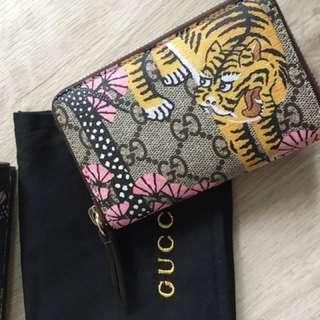 Gucci 獅子散字包 card holder