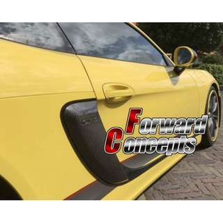 2013-2017保时捷981 Cayman Boxster改GT4样式 碳纤维进气孔贴片