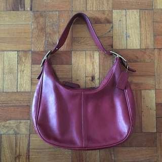 Coach hobo shoulder bag, wine red