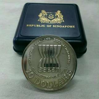 1987 $10 Coin 20 Th anniversary of Asean