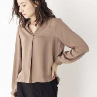 #Huat50sale Brown Chiffon Blouse