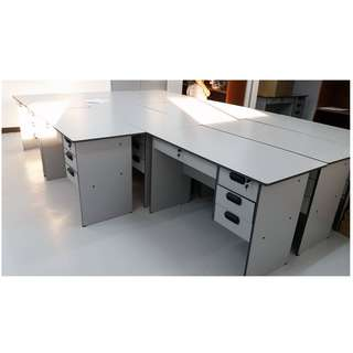 Cnc Office TAble gray colot with drawers