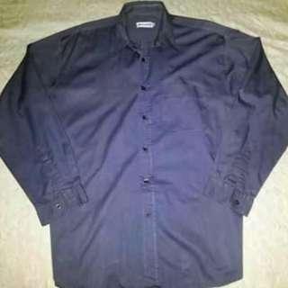 Image Maker Gray Long Sleeves Polo