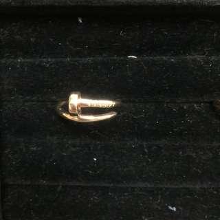 14K Italy Gold Cartier Nail Ring 3.4g
