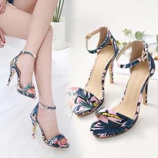 Size 35-40 Floral Peep Toes High Heels