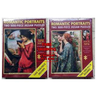 Jigsaw Puzzle - 2 x 1000 pieces - Romantic Portraits