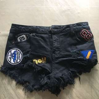 Forever 21 ripped jeans shorts