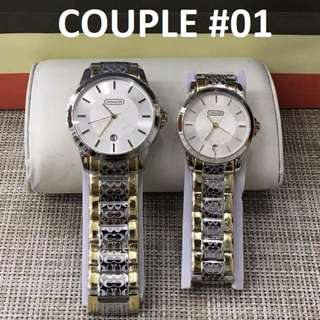 COACH COUPLE WATCH HIGH-END