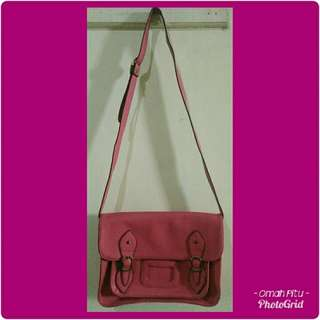 Tas import satchel pink