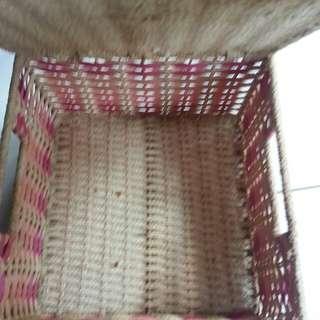 Square basket  22cm×22cm×12cm