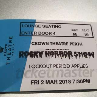 X4 ROCKY HORROR SHOW TICKETS PERTH!