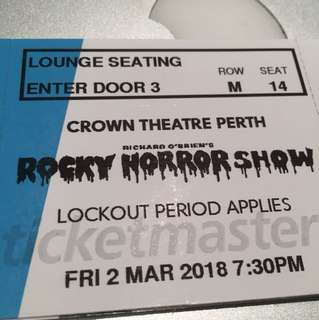 X3 ROCKY HORROR SHOW PERTH
