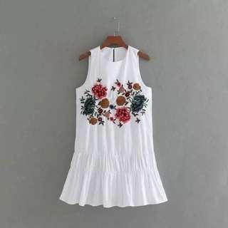 OWS Olivia Embroidery Dropwaist Dress