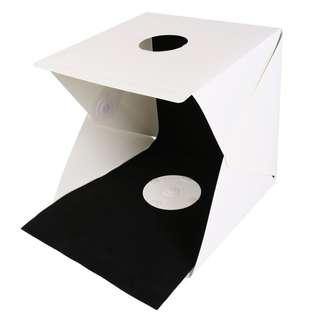 便攜式 40*40cm 折疊攝影棚套裝 LED燈柔光拍攝台攝影箱 小型燈箱