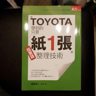 在Toyota学到的只要纸1张的整理技术