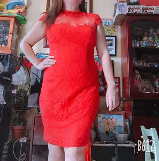 Hot Red Laced Dress 👗