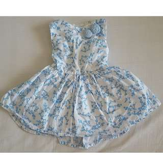 Peppermint Blue/White Dress