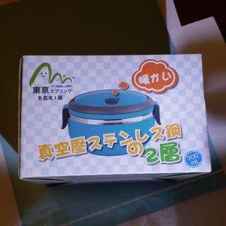2個全新白色日本保温便當盒