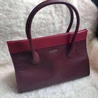 Lacoste Magnetic Snap Closure Handbag