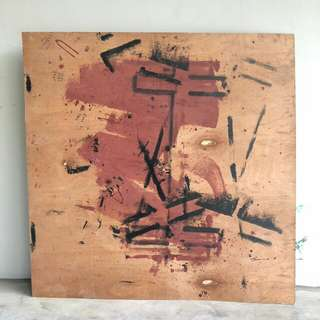Abstract Art Title: No Name Medium: Enamel paint on veneer ply Artist: Local anonymous Created: 2017