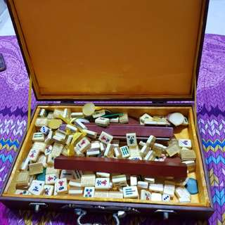 Mini Mahjong Set In Very Good Condition (My Collection) Fast Deal %30