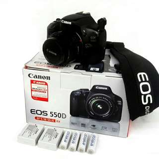 Canon 550d with 50mm prime lens