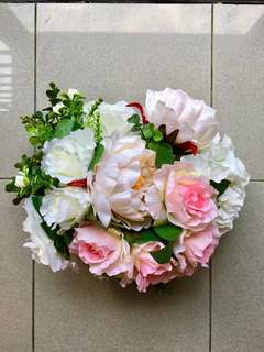 Wedding / Bridal Car Flowers - peonies and roses