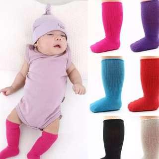 寶寶彩色防滑中筒襪