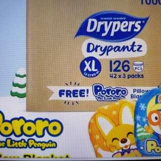 Drypers drypantz-unopen (XL 42 x 3)