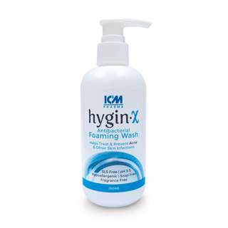 HYGIN-X Antibacterial Foaming Wash 200ml Helps treat & prevent Acne