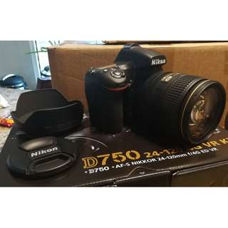 Nikon D750 with 24-120mm lens Kit