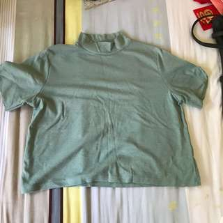 Mock neck uzzlang top
