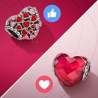 Pandora Valentine's Heart Love Charm