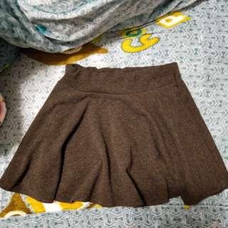 🚚 灰色棉質褲裙