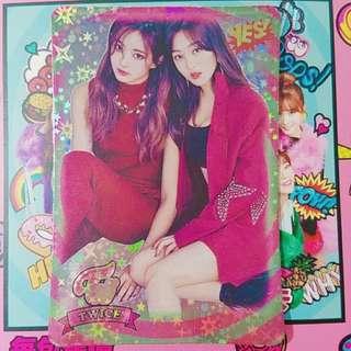 Twice 專輯yes card 志效子瑜 閃卡
