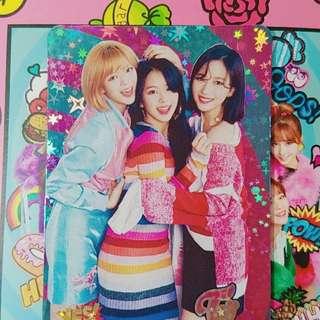 Twice 專輯yes card 閃卡