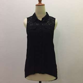 Forever 21 Black Sleeveless Shirt