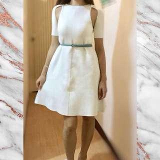 BCBG White dress - size S, Brand New