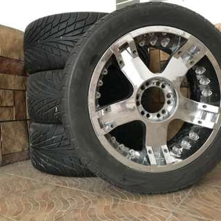 20 inch mags with tires (4pcs)