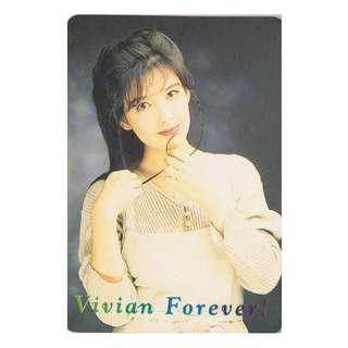 20-Z,YES CARD,周慧敏彩照下有金字-VIVIAN FOREVER,背面曲詞-沒愛一身輕,全購系列-原價6折