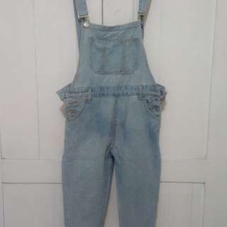 Blue jeans jumpsuit