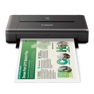 Canon PIXMA iP110 Single WiFi Mobile Color Inkjet Printer