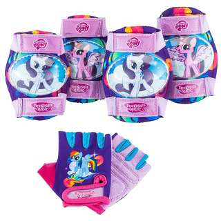 BNIP: My Little Pony Toddler Knee & Elbow Pad Set with Gloves