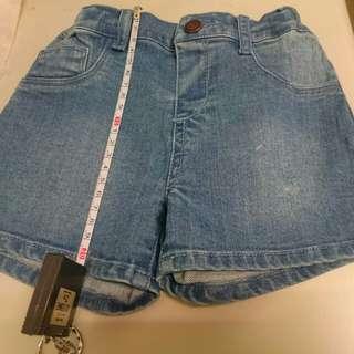 二手lativ幼童牛仔短褲 -90cm