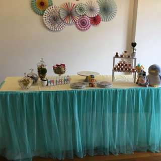 Table Skirting and Party Decorations Rental