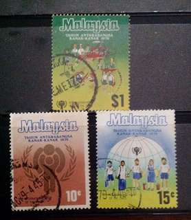 Malaysia 1979 International Year Of The Child 3V Used SG199-201 (0296)