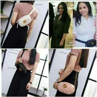 Gucci marmont import belt waist bag nagita slavina